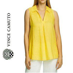 NWT Vince Camuto Linen Split Neck Linen Tunic